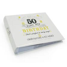 "Happy 50th Birthday Photo Album - Holds 80  6"" x 4"" photos FL29950"