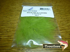 NATURES SPIRIT PALE OLIVE CUL DE CANARD CDC - NEW FLY TYING FEATHERS