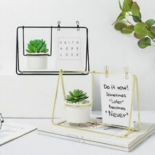 Nordic Iron Photo Frame Potted Stand Postcard Clip Holder Succulent Plant Vase