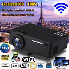 4K 1080P HD WIFI Android 6.0 BT Video Projector Home Theater HDMI/USB/TF/AV/VGA