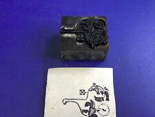 Antique Barnhart Bros & Spindler #108 Foundry Metal Letterpress Stamp Racetrack