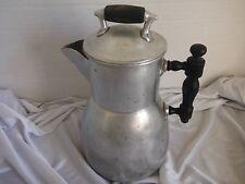 Vintage  Aluminum Coffee Pot wooden Handle Wearever Pat'd June 10 1902