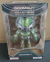 "Doom Doomguy Action Figure PVC 9"" Tall Guy + E1M1 Hangar Theme Tune Bethesda"