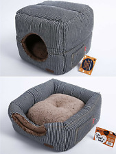New listing Smiling Paws Cat House for Indoor Cats - Quality Washable Small Pet Bed That as