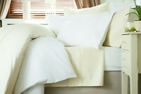 600 Thread Count Cotton Sateen Duvet Cover in White Double Bed Size