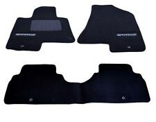 *NEW* 2011-2016 Kia Sportage Carpet Floor Mats 3-Piece Set Black  3WF14-AC300WK
