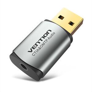 Vention USB-Soundkarte Externer USB-Soundkartenadapter zum 3,5-mm-Headset K3O3