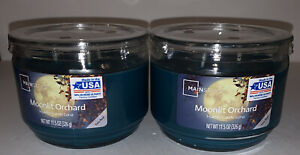 2 Mainstays MOONLIT ORCHID 3 Wick Jar Candle 11.5 oz no lead / Free Shipping