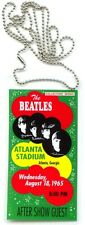 1965 Beatles Atlanta Stadium Concert, Atlanta, Georgia  Backstage Pass