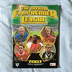 Merlin FA Premier League Sticker Album 2003 10th Edition - Missing 296 Stickers