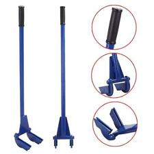 Steel Pallet Buster Pallet Pry Bar Double Fork Nail Puller Deck Board w/Handle