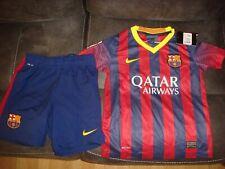 Barcelona Home Kit Football Shirt & Shorts - 6-8 Years Kids - 2013/14 -Bnwt -C99