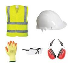 Basic PPE Safety Kit - Hard Hat / Ear Defenders/Hi-vis Vest/Gloves/Glasses