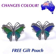 Butterfly Mood Ring Temperature Emotion Feeling Colour Changing Adjustable Rings