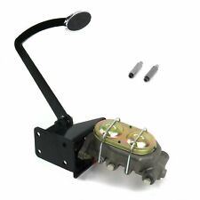 Universal Frame Mnt Manual Brake Pedal kit Disk/DiskLg Oval Chr Pad rat rod