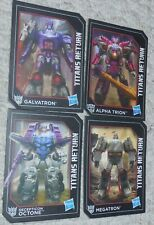 Transformers Titans Return 4 Card Lot Generations GALVATRON OCTONE MEGATRON