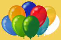 NEW Pack Of 50 Assorted Party Event Balloons Suitable for Helium or Air Latex
