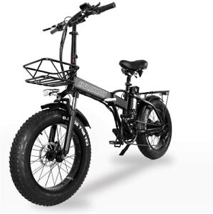 "2021 XXCY Folding Electric Bike 500w e-bike 20"" * 4.0 fat tyre 48v 15ah battery"
