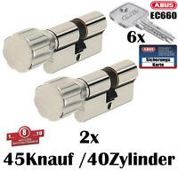 3x Knauf Zylinder Abus Schließanlage EC660 Wendeschlüssel Gleichschließend Karte