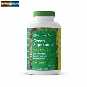 Amazing Grass Green Superfood Capsules: Super Greens with Spirulina, Chlorella,