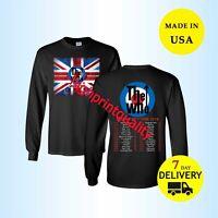 New The Who Shirt Moving On Tour 2019 Long T-Shirt Men Black Size M-L-XL-3XL