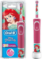 Oral-B Kids Electric Toothbrush Disney Princess Rechargeable Brush + 4 Stickers