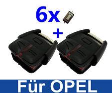 2x CHIAVI AUTO TELECOMANDO chassis per Opel Vectra C Signum +6x micro sonda