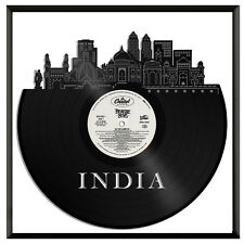 India Vinyl Wall Art Cityscape Vintage Office Home Decoration Gift with Frame