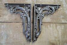 A pair of antique folliage brackets cast iron wall shelf bracket AL19