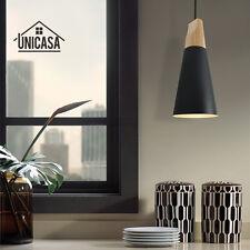 Modern Chandelier Black Industrial Pendant Lighting Wood Kitchen Ceiling Lamp