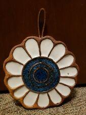 Victoria Littlejohn Ceramics art hanging trivet, used