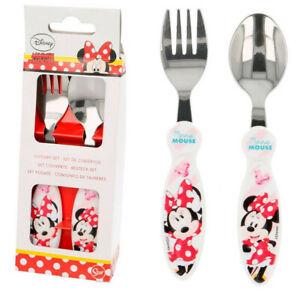 Besteck-Set Minnie Mouse   Minnie Maus   2-teilig   Kinder Gabel und Löffel