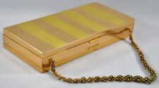 Vintage Gold Evans Elegance Makeup Compact Purse Case Box Metal Wristlet AS IS