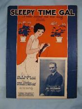 Sleepy Time Gal Sheet Music Vintage 1925 Al Herman Ange Lorenzo R A Whiting (O)