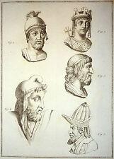 Encyclopédie Méthodique Antiquités Mythologie Têtes Romaines Panckoucke 1786