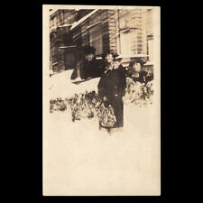 ICE COLD DEATH GHOST WOMAN REPEATS in SNOWY HELL ~ 1920s DOUBLE EXPOSURE PHOTO