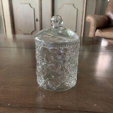 Glass Apothecary Jar Cotton Jar Bathroom Storage Organizer Canister Decorative