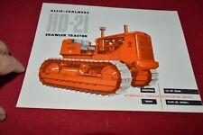 Allis Chalmers HD-21 Crawler Tractor  Dealers Brochure YABE14 ver8