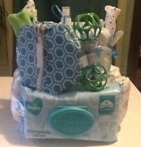 Medium diaper cake for a boy