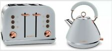 MORPHY RICHARDS ACCENTS collection  4-Slice Toaster and Kettle - Grey& Rose Gold