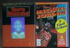 1991 Sports Illustrated MICHAEL JORDAN & Pro Basketball illustrated w/Posters