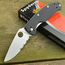 Spyderco Tenacious Part Serrated G-10 Folding Knife C122GPS