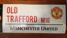 "Manchester United OLD TRAFFORD M16 Street Replica Sign 15"" 3/4"" x7"" 1/4"" Murinho"