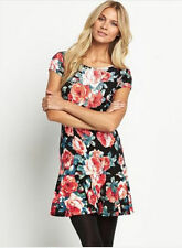 South Floral Print Flute Hem Dress Size 12 BNWT B4