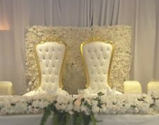 King And Queen Throne Chairs/Love Lounge/Chair Covers FOR EVENT DECOR HIRE!