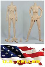 ❶❶1/6 Female Nude Figure Body N002 medium Breast Pale Skin Tone SHIP FROM U.S.❶❶