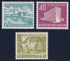 Berlín 1954, MiNr. 121-123, 121-23, sus resultados son excelentes post frescos, mié. 130,-
