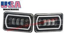 "2Pcs 4""X6"" LED Headlight Cree Light Bulbs DRL Crystal Clear Sealed Beam Headlamp"