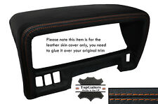 Cuciture arancione Speedo sul bordo del cappuccio cuoio pelle copertura Si Adatta Nissan Patrol Y60
