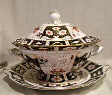 Royal Crown Derby Traditional Imari 3 Piece Soup Tureen